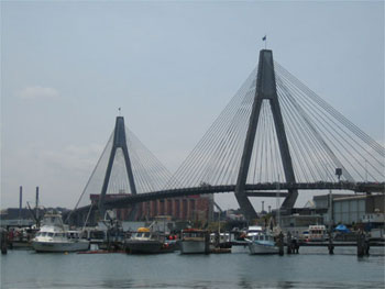 L'Anzac Bridge visto dal Fish Market