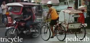 Triciclo e bicitaxi - Tricycle and pedicab